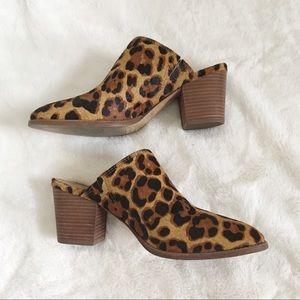 Madewell The Harper Mule In Leopard Calf Hair